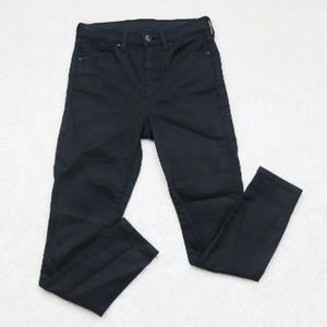 TopShop MOTO High Waisted Ankle Pants Coated Jamie